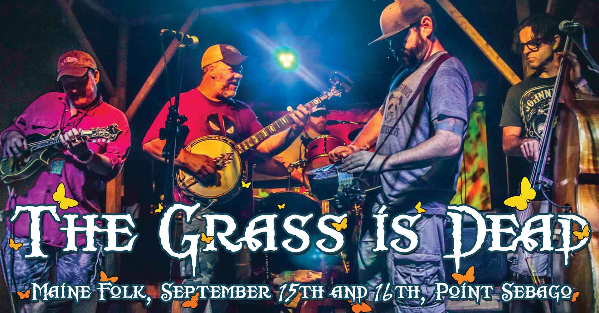 The Grass is Dead - Grateful Dead Bluegrass Band performing live at Point Sebago on September 16th.